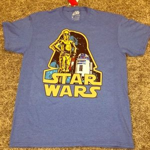 Blue Star Wars Shortsleeved T-shirt